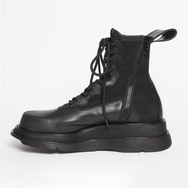 유럽 패션 망 엘리베이터 신발 캐주얼 고품질 남성 가죽 부츠 높이 증가 남자 발목 부츠 13 # 25 / 20D50