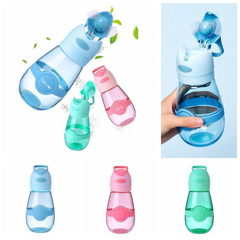 3 ألوان 400 ملليلتر مروحة كوب المشجعين زجاجة المياه المحمولة الرياضة كأس السفر القدح الصيف بارد مروحة أكواب usb المسؤول طالب القدح CCA11714 10 قطع