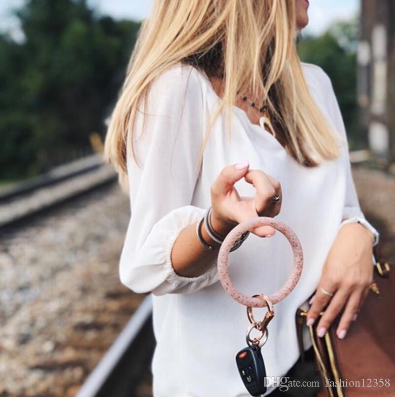 Armband-Armband-Schlüsselring-Armband-O-Schlüsselring-großer runder Schlüsselanhänger Ideal Geschenke Runde Schlüsselanhänger-Halter