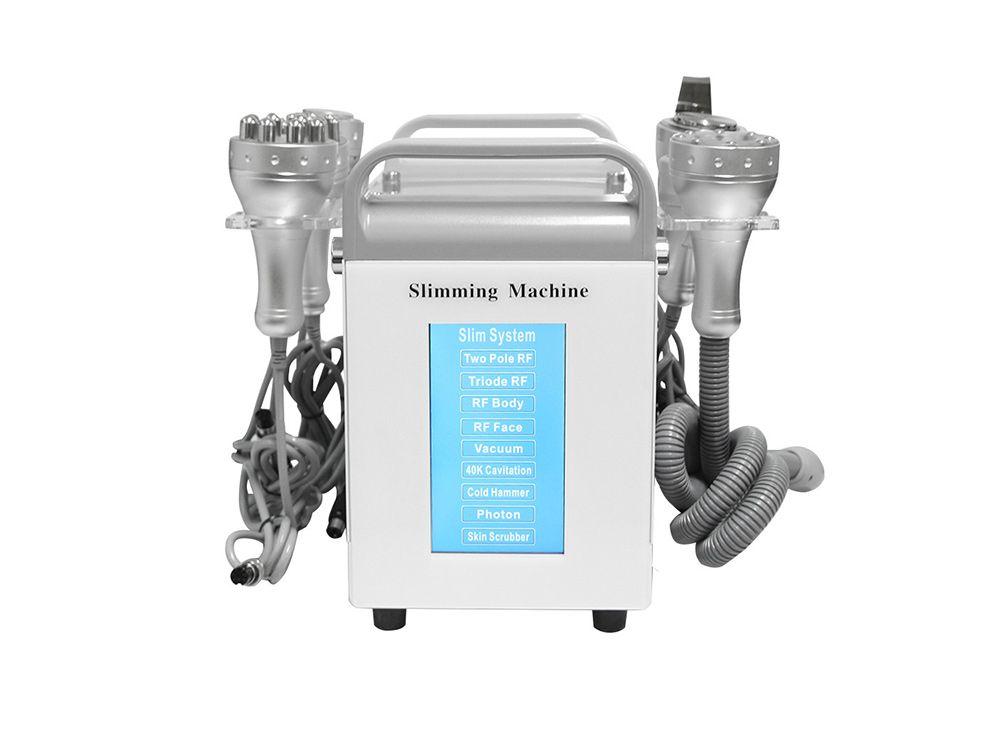 9 في 1 المهنية آلة 40K التجويف فراغ آلة التخسيس الجسم LED فوتون RF آلة الجمال الباردة المطرقة الوجه سبا