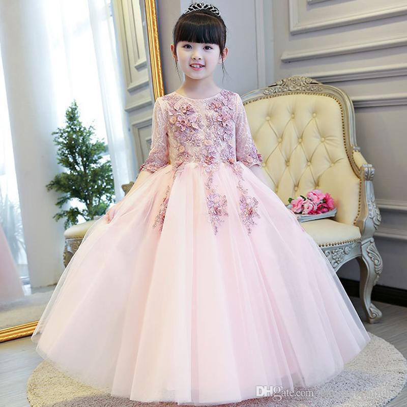 Compre Vestidos Largos De Baile Vestidos De Fiesta Para Adolescentes Vestidos De Fiesta Para Niños Vestido Formal De Noche De Niños Para La Boda De