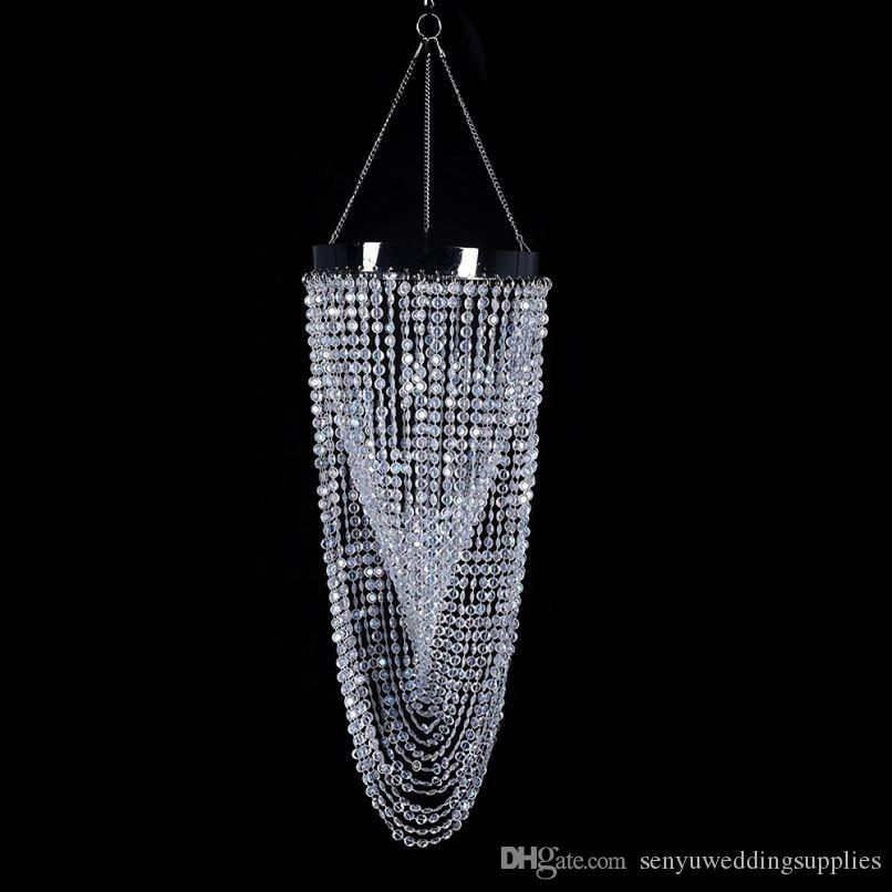 Wedding Table Decoration Crystal Chain Hanging Chandelier senyu0285