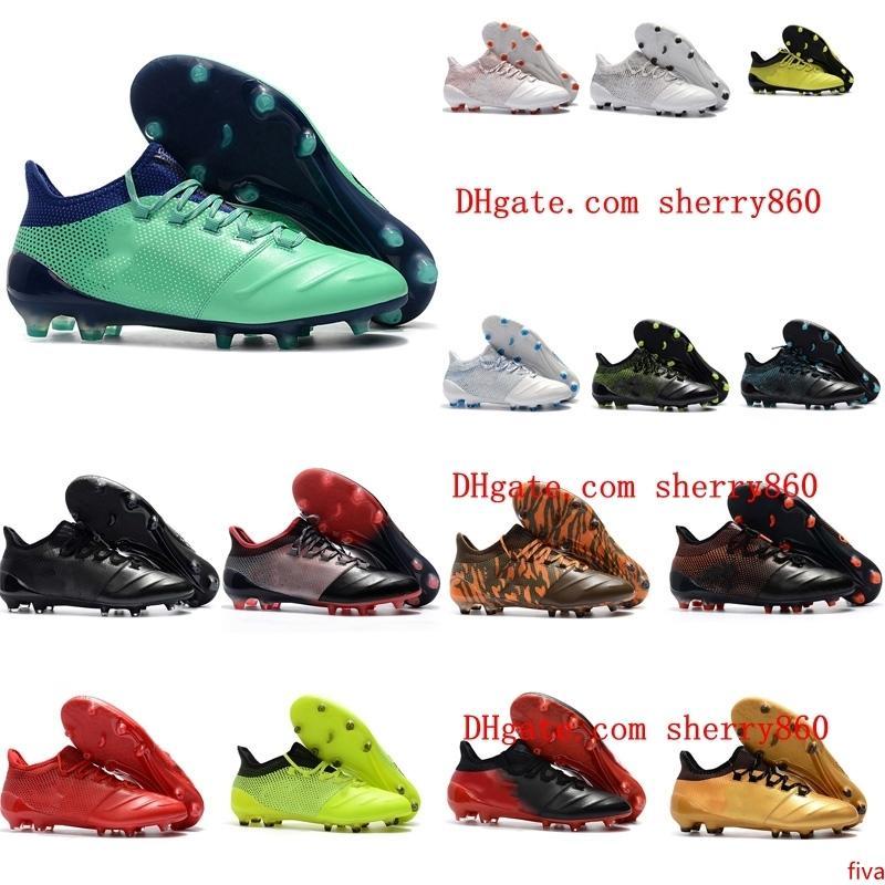 2019 hommes chaussures de football X 17.1 cuir FG crampons de football à bas prix Crampons de chaussures de football x 17 Purechaos FG da calcio scarpe