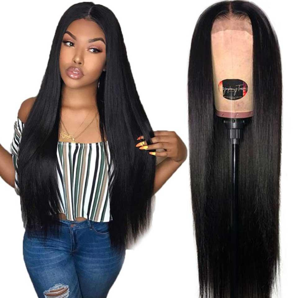 180% Brazilian Lace Front Wigs 13x4 Human Hair Lace Frontal Wigs Pre Plucked Lace Front Human Hair Straight Wigs For Black Women