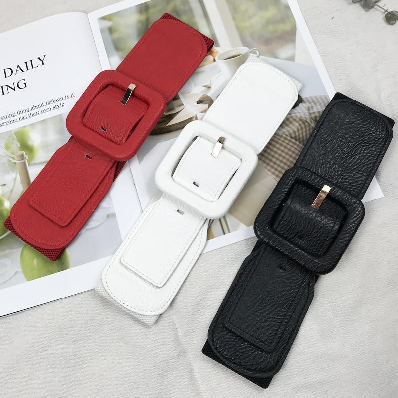 게다가 여성을위한 크기 벨트 여성 허리 폭 넓은 벨트는 커머 번드 탄성 큰 ceinture 고품질의 드레스 벨트를 FEMME 코르셋