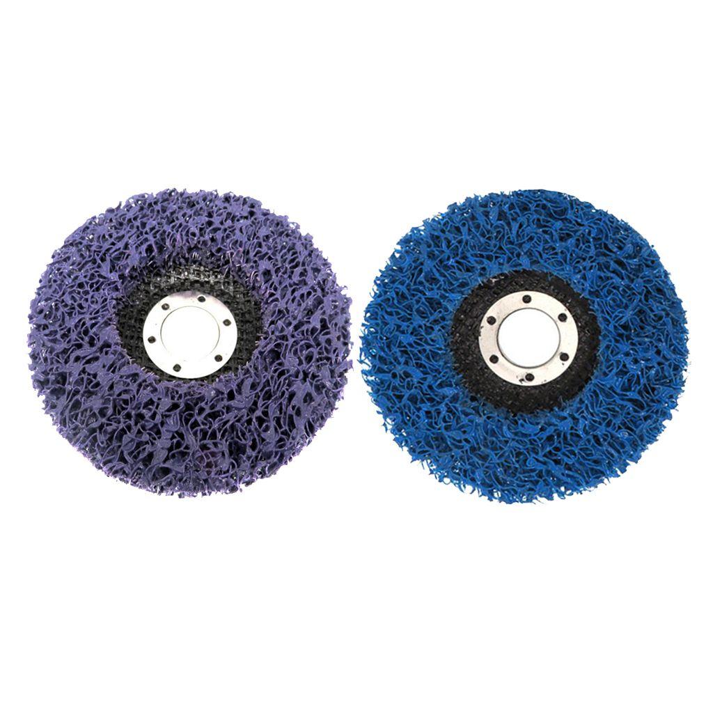 2 PCS 4.5 \ '\' 115mm eliminación de óxido amoladora angular discos, resistente, de bajo ruido de molienda | Azul púrpura