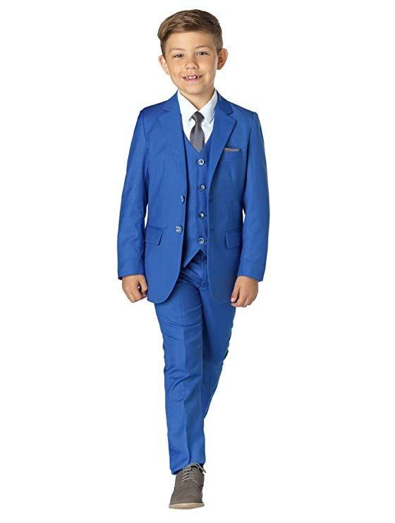 información para 47e2d 4fc87 Compre Traje Gris Azul Real Para Niño Traje Traje De Boda Para Niños Blazer  Trajes De Niños Para Bodas Niños Esmoquin / Set Chaqueta + Pantalón + ...