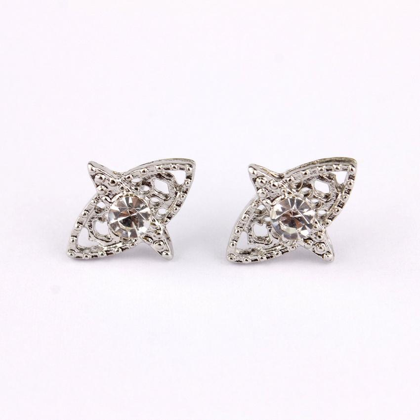 Fashion-Small Crystal Accent Evil Eye Stud Earrings Christmas Gifts for Girls Boutique Jewelry