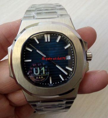 Luxus-Armbanduhr blaues Zifferblatt Edelstahl-Armband 41mm 15400ST.OO.1220ST.03 mechanische automatische Männer Uhren Herren-Uhr-freies Verschiffen