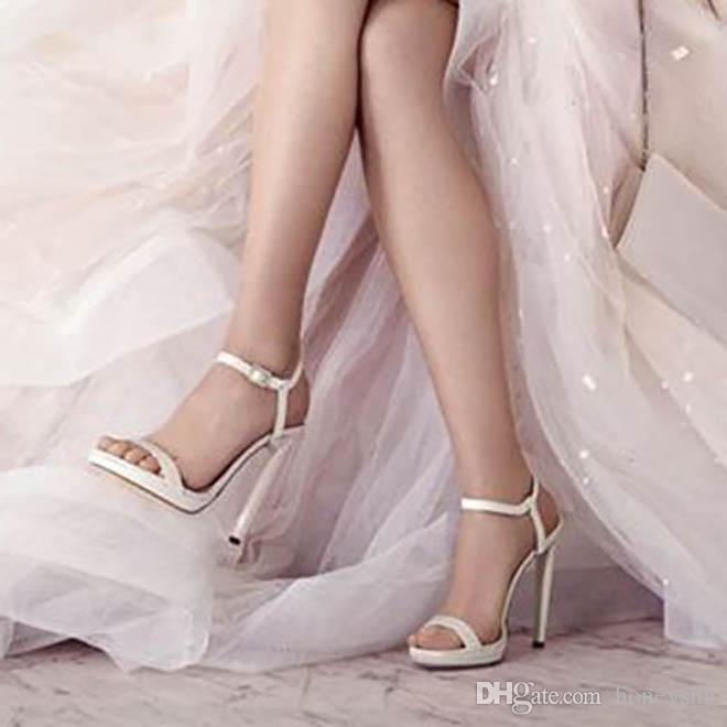 Kolnoo personalizado sandalias de tacón alto de las mujeres Sexy Summer Wedding Shoes Party Office vestido de moda Sandalias Tacón de aguja zapatos