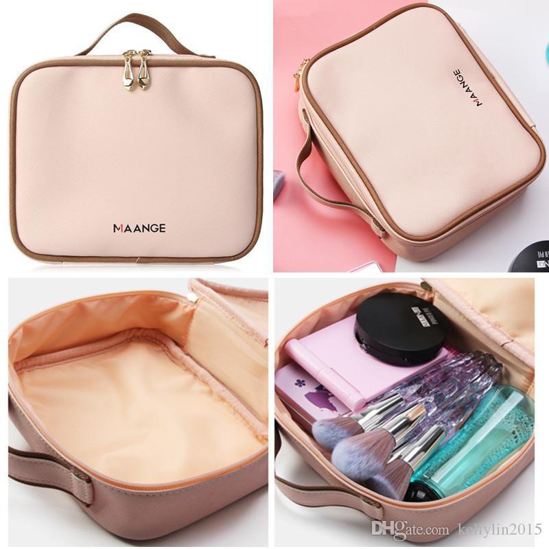 MAANGE Makeup Cosmetic Bag Organizer Travel Portable Designer Luxury Handbags Make up Brushes Tools Cosmetics Storage Bags