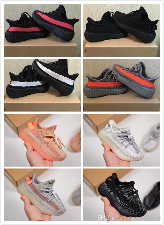 مصمم العلامة التجارية الاطفال حذاء طفل ثابت صحيح شكل كلاي كاني ويست الجري المدربين زبدة شبه زيبرا الأطفال صبي فتاة beluga 2.0 رياضة