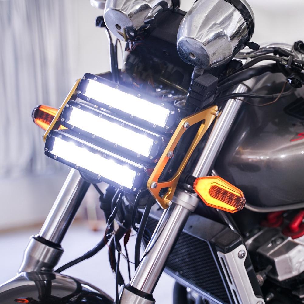Faróis da motocicleta Faróis Faróis Faróis de Nevoeiro Faróis de Nevoeiro DRL Faróis Da Motocicleta Luzes de Condução Holofotes Motocicleta Projetor