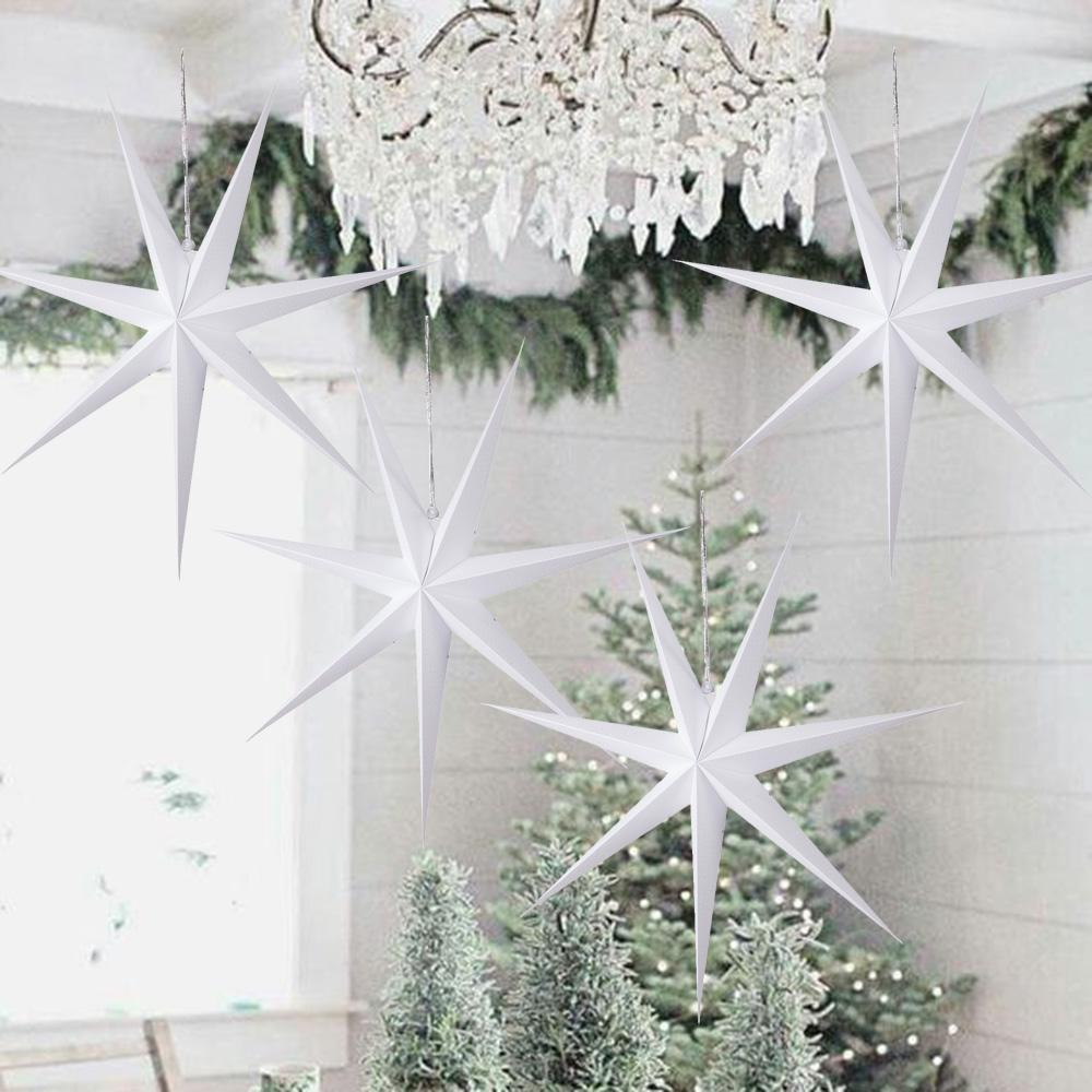 Noël pendentif en baisse ornements de 60 cm Hanging 7 Angle de papier de Noël Décorations Étoile de Noël Marry creux lanterne Star arbre