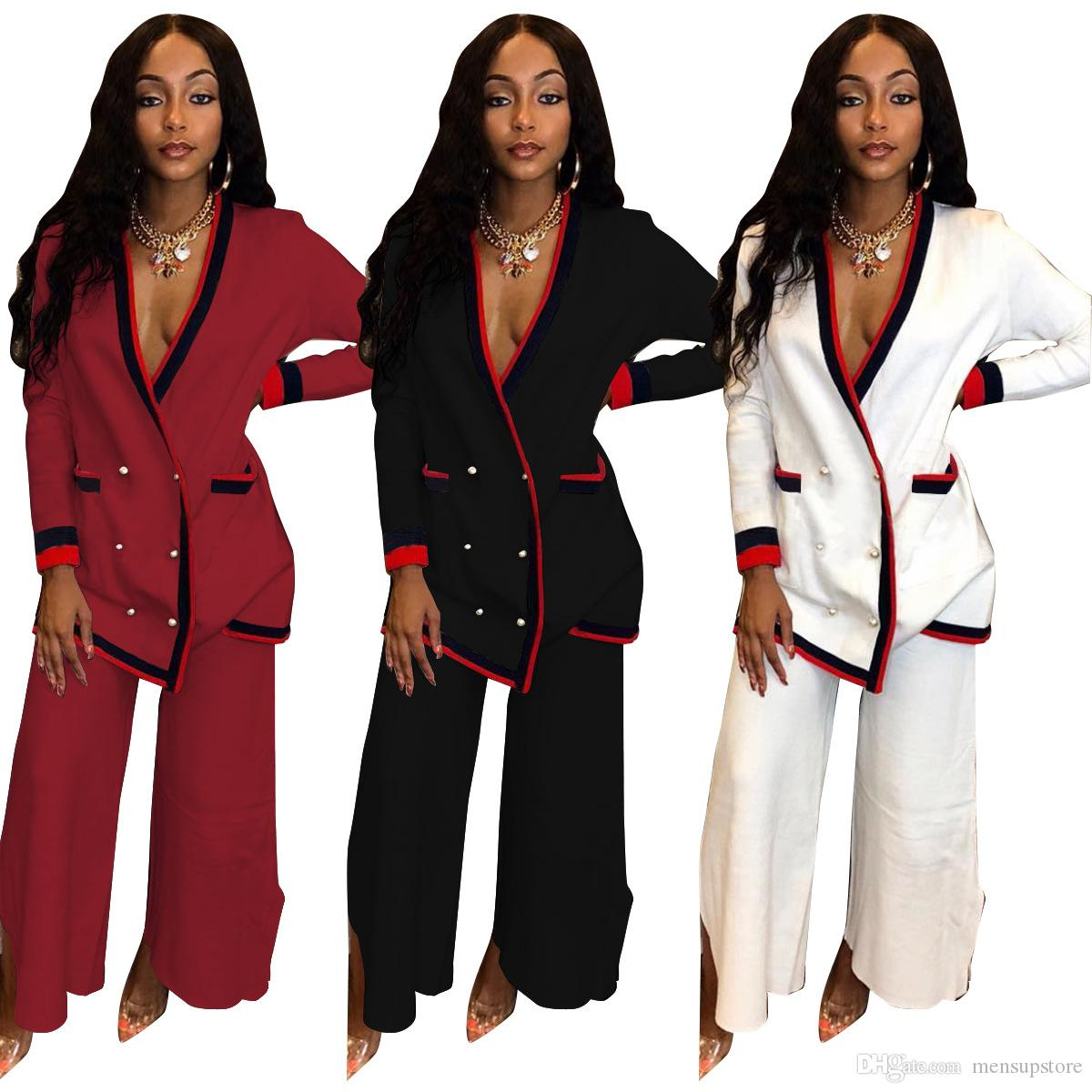 Femmes Mode Costumes Blazers Pantalons Survêtements Tops Costumes breasted simple Pantalons