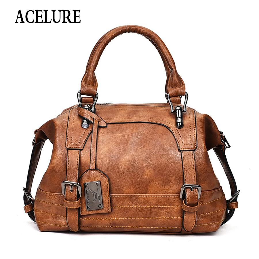 ACELURE Shoulder Bag In Women's Tote Brand Crossbody Bags for Women Messenger Bags Vintage Leather Bags Handbags Women Famous V191114