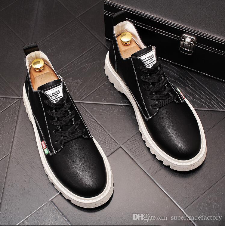 İtalyan moda Bahar fabrika tedarikçisi yüksek kaliteli nefes rahat erkek ayakkabıları iş rahat Parti Düğün ayakkabısı