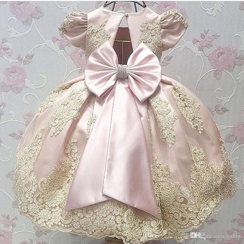 Las muchachas de flor de encaje vestidos para las bodas de longitud de Bohemia del desfile de chicas Vestidos cumpleaños de los niños