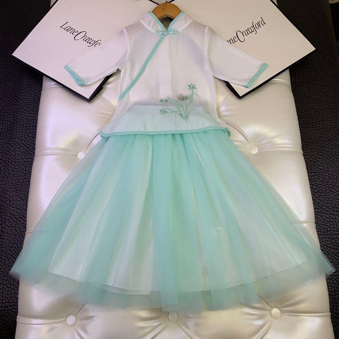 Designer Mädchenkleidung Baumwollkleid Babykleider Art und Weise der neuen Auflistung heiße Party einfach klassisch herrlich hübsch 7BZZ