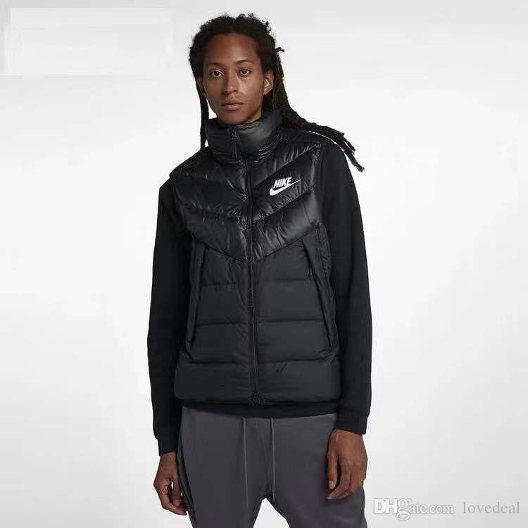 Marca mujeres de los hombres de la chaqueta de invierno chaleco Chaleco térmico encapuchados chaleco chalecos de algodón Chaqueta de invierno al aire libre prendas de vestir exteriores del tanque tops Abrigos Tamaño negro M-3XL