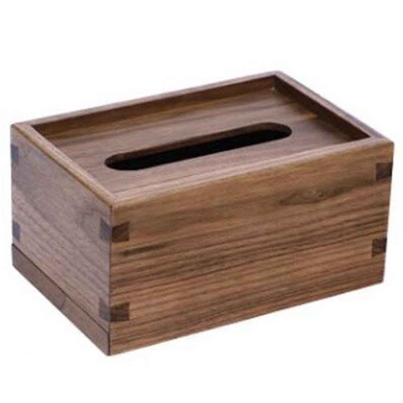Paper Tissue Case Toilet Paper Boxes Bathroom Car Room Baby Wipes Napkin Holder Natural Wood Towel Box Dispenser Kitchen Storage & Organizat