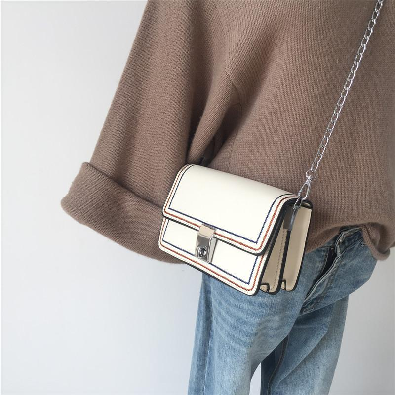 Belle2019 Ins Rui Man Exceed Fire Bag Xia Contracted Spiraea Woman Package Chic Chain Single Shoulder Messenger Small Square