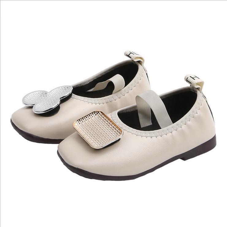 Baby Kids Soft Sole Leather Shoes Toddler Girls Single Princess Shoes Sandals