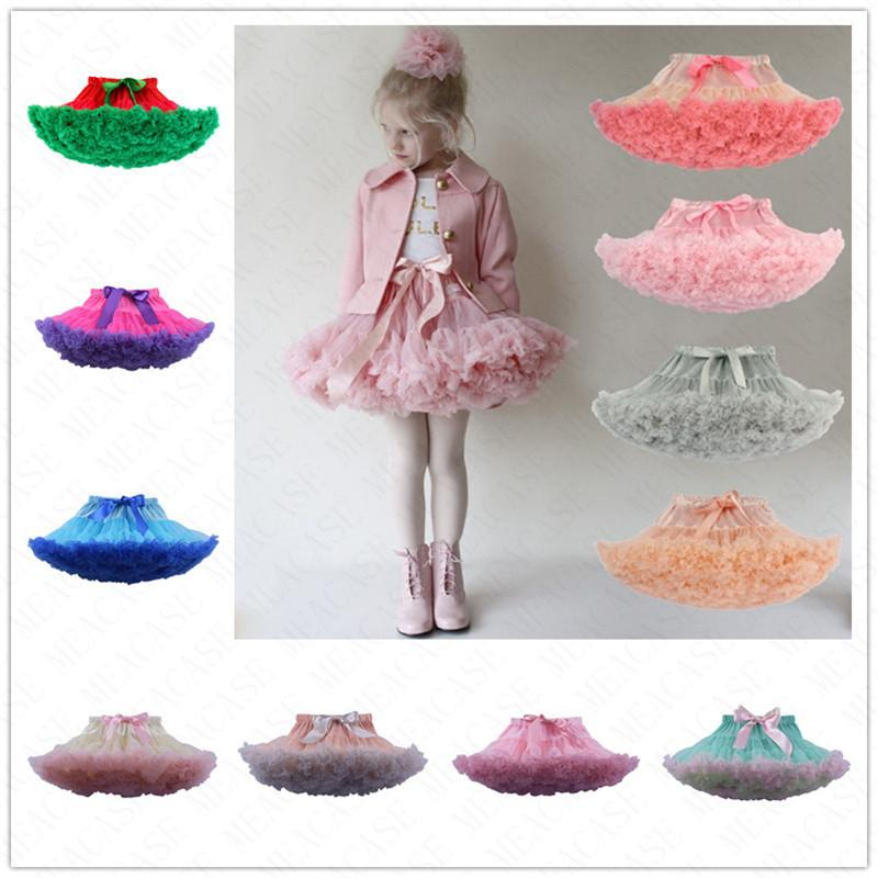 Summer Women Girls Tutu Skirt Pettiskirt Lolita Petticoat Adjustable Elastic Party Ballet Dresses Fluffy Chiffon Tutus Princess Skirt D61608