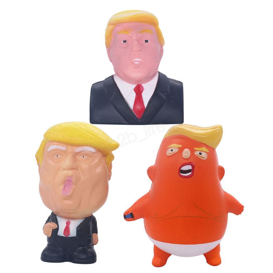 Новинка Трамп мягкие игрушки замедлить рост выжать ПУ отскок американского президента мягкая слон декомпрессии забавные игрушки вечеринки LJJA2913