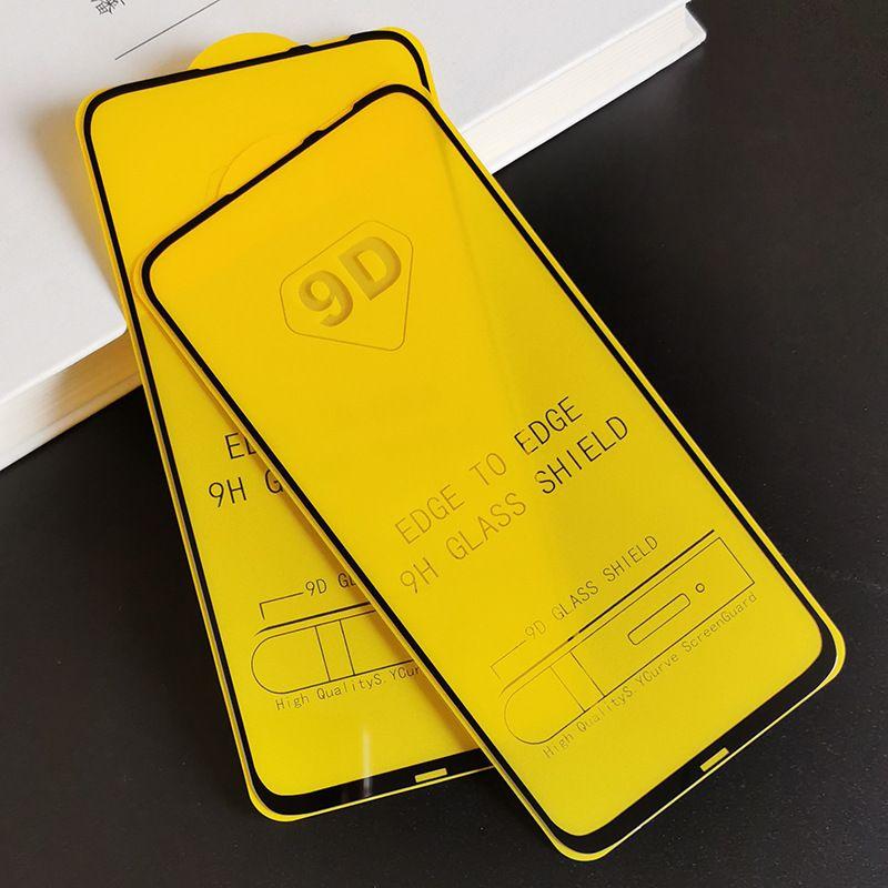 フルカバー9D 2緩和されたガラススクリーンプロテクターAB接着剤Huawei Nova 7 7 I 7 SE Y5P Y7P 2020 Onlon 9S Y6S Y9S Y7A Y9A 200PCS /ロット