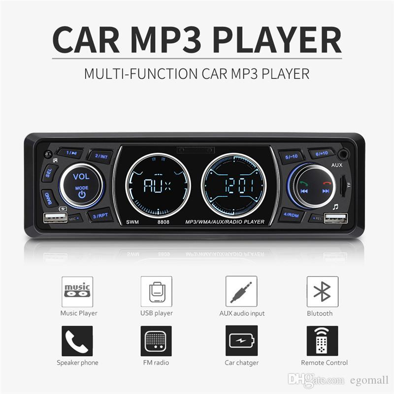 1 Din Car Radios 4 Inch Car Stereo MP3 Music Player Support Bluetooth Dual USB TF AUX FM Hands Calling