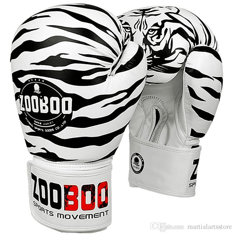 free shipping zooboo high quality adults kicking tiger pattern boxing glove mma fighting boxing gear gloves