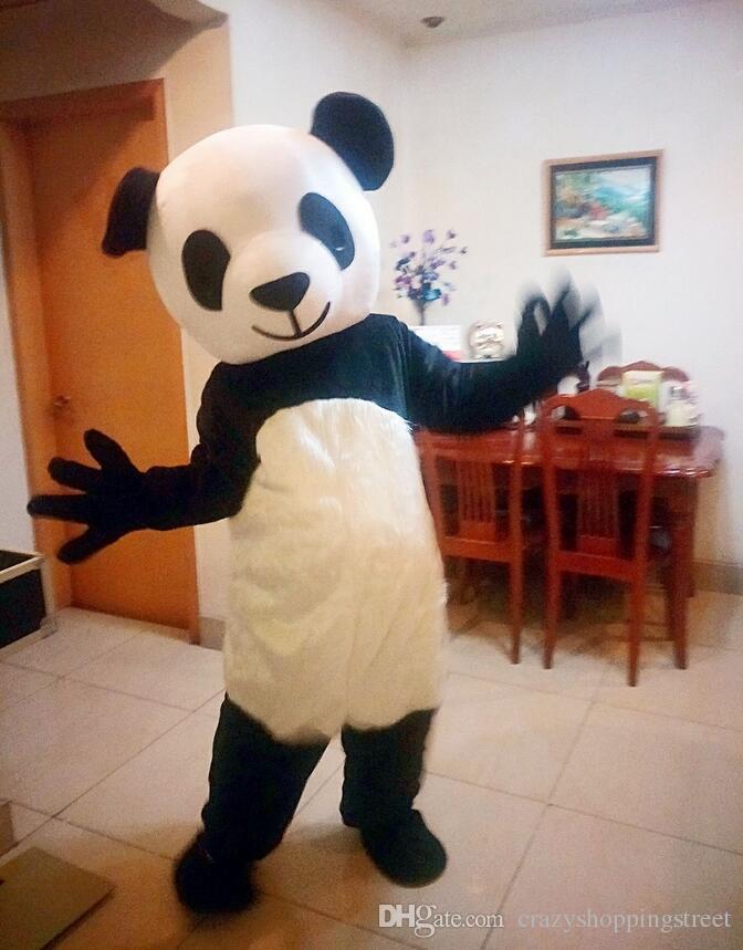 Halloween Panda Mascot Costume Top Quality Cartoon Chinese Giant Panda Anime Theme Character Christmas Carnival Party Costumes Goddess Costumes Sailor