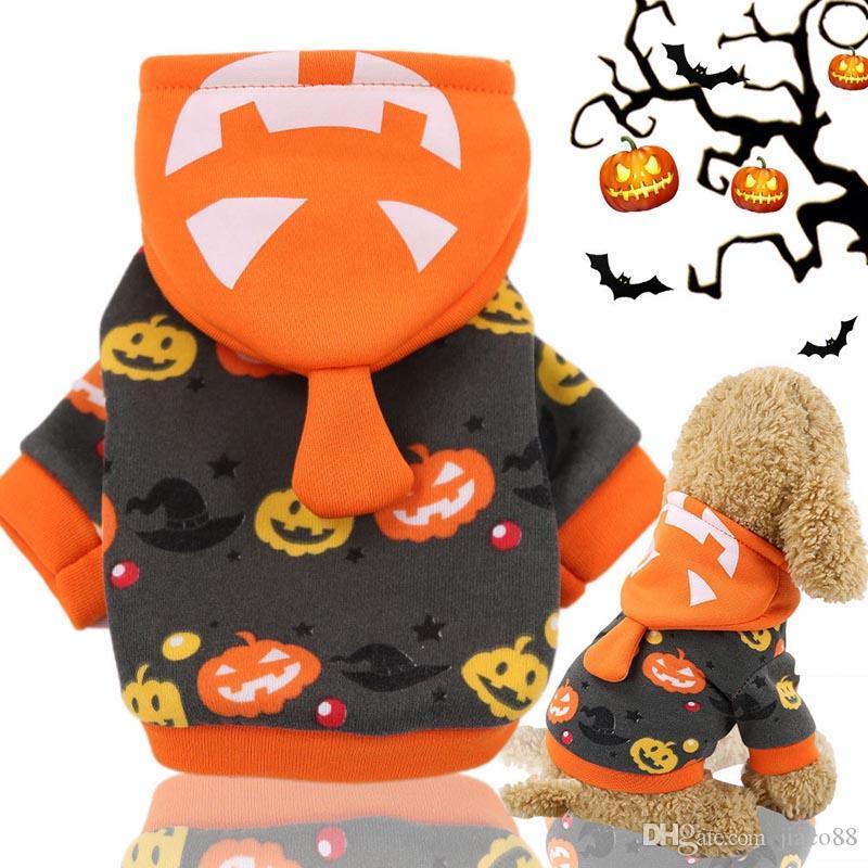 Pumpkin Hood Abbigliamento inverno caldo Halloween Pet Dog Abbigliamento per Natale Cosplay Apperal Santa Trasfigurazione Costumi Costumi con cappuccio Cappotto