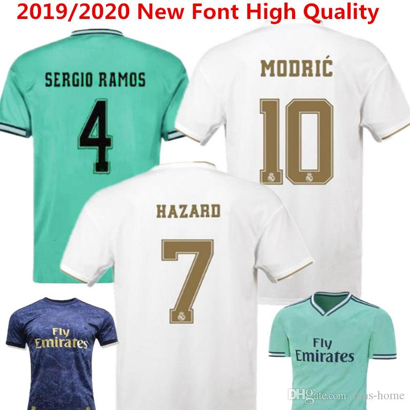 Hazard Real Madrid Fußball Trikot 2019 2020 Spanien Fußball Trikot Benzema Sergio Ramos Fußball Trikot Man Modric Kroos Bale maillot Ninos
