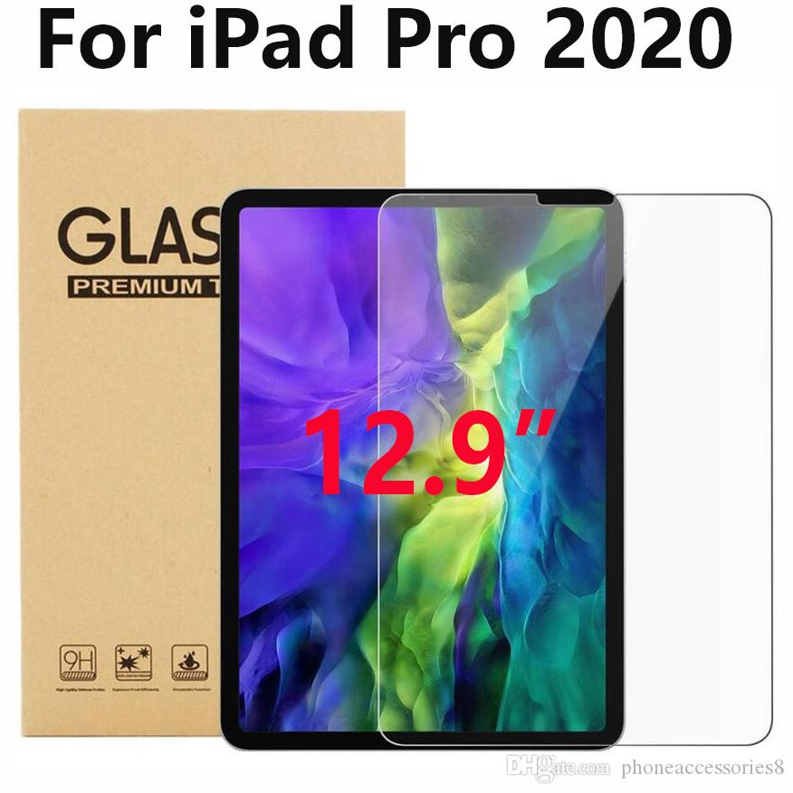 "Tablet Pad Tempered Glass Screen Protector for IPAD PRO 12.9 2020 12.9"" 12.9 inch in retail package dhl free shipping"