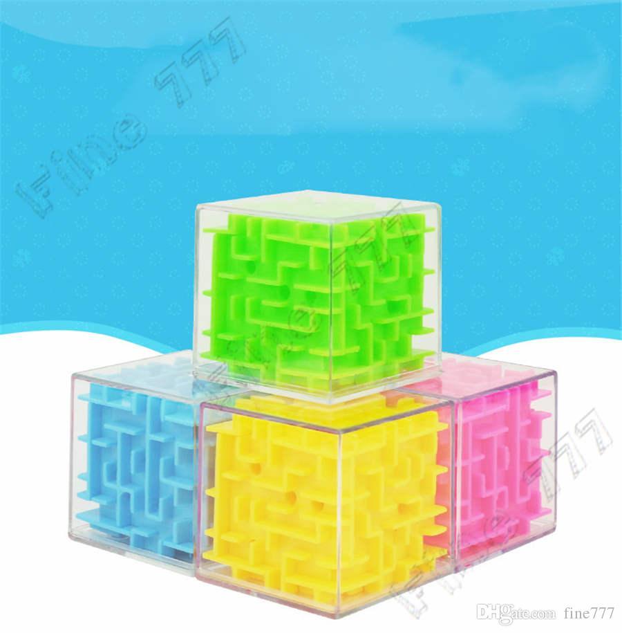 جديد 5.5CM 3D مكعب لغز المتاهة لعبة لعبة اليد حالة صندوق المرح الدماغ لعبة التحدي الململة ألعاب توازن ألعاب تعليمية للأطفال