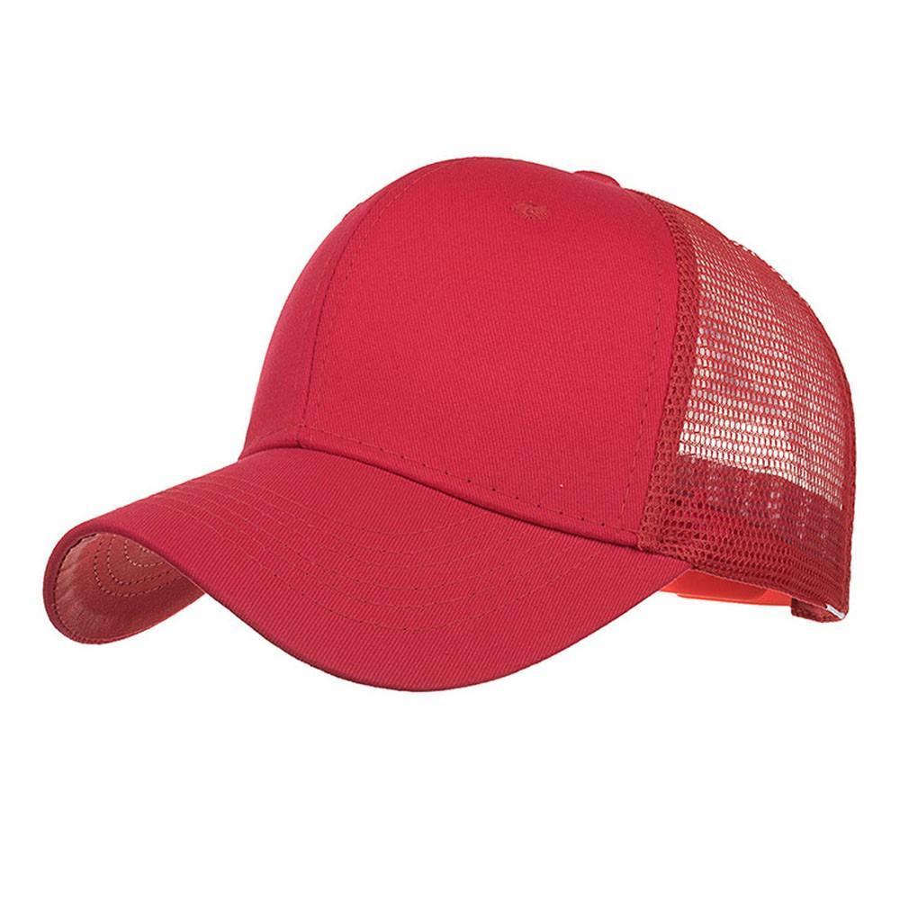 Solid Ponytail Baseball Cap Women Snapback Dad Hat Mesh Trucker Caps Messy Bun Summer Hat Female Adjustable Hip Hop Hats #340
