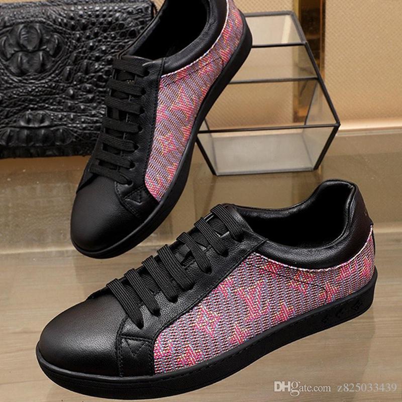 Herren Schuhe beiläufige Art und Weise Turnschuhe Schuhe Hombre LuxuxMens Schuhe Fashion Art Luxemburg Sneaker Chaussures gießen hommes Schnelle Lieferung