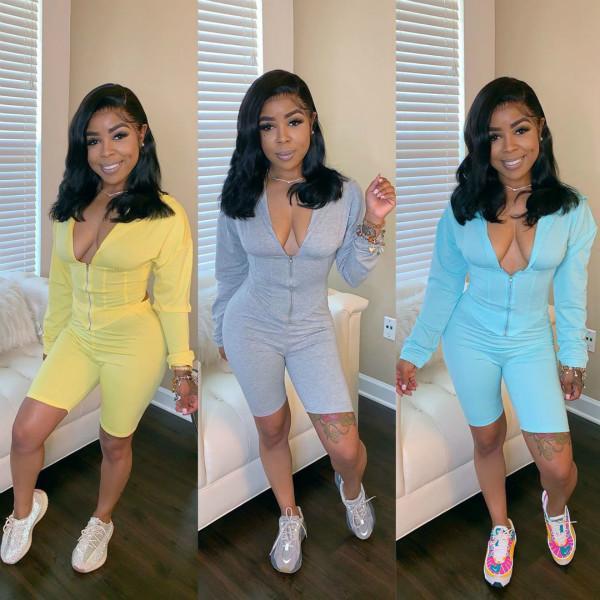Womens Sexy Anzug Outfit mit kurzen Hosen Sportswear Fashion Top + Pants Zweiteiler Set Langarm-Kapuzen sweatsuits neue Kleider