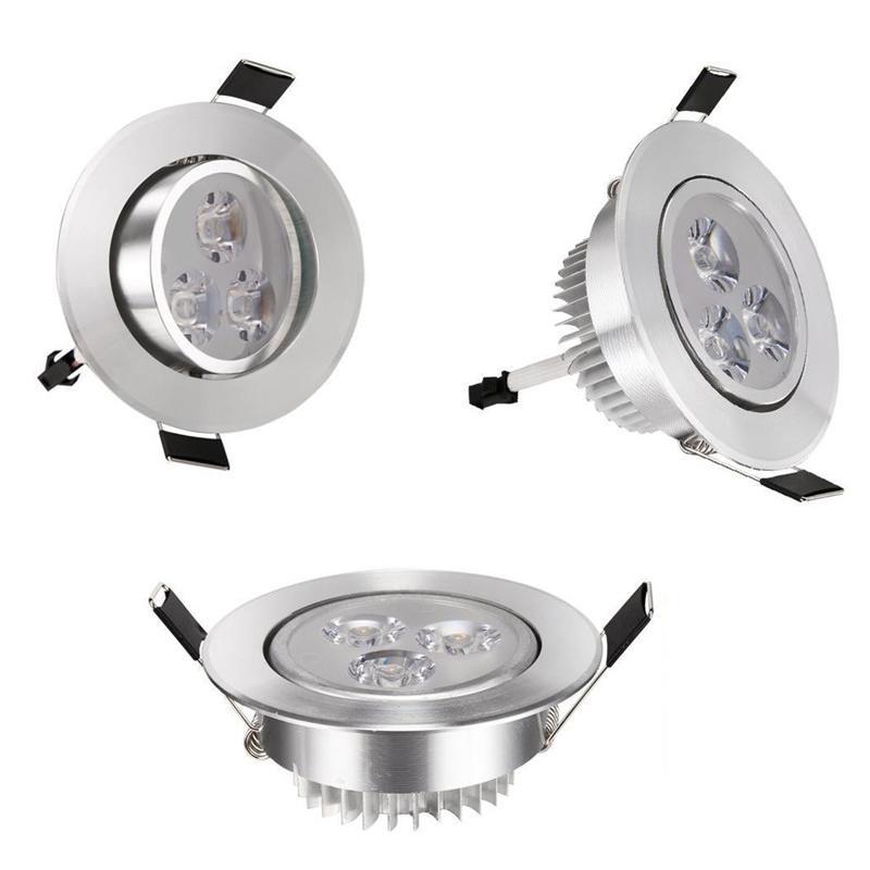 Caliente 4PCS frío / caliente del blanco 3W Downlight LED giratoria empotrada en el techo la luz del proyector de la lámpara 110V Conductor