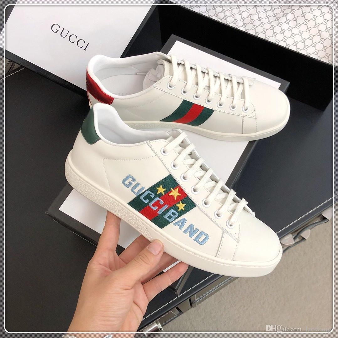 Scarpe Uomo delle donne di modo di lusso casual Calzature superiore di cuoio reale delle scarpe da tennis Scarpe scarpe di velluto Sport Sneakers