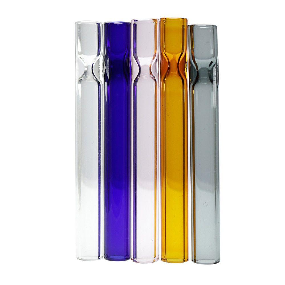 Attrezzature per tubi in vetro da 4 pollici da 4 pollici 10 cm tubi di vetro tubo tubo alto trasparente supporto sigaretta per fumare tabacco