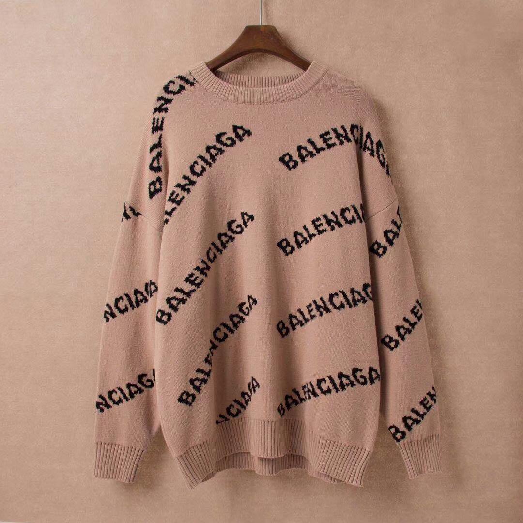 Automne Hiver 2019 Chandails style européen des femmes Imprimer lettres dames Hauts épais à manches longues Pull chaud en vrac pull en tricot