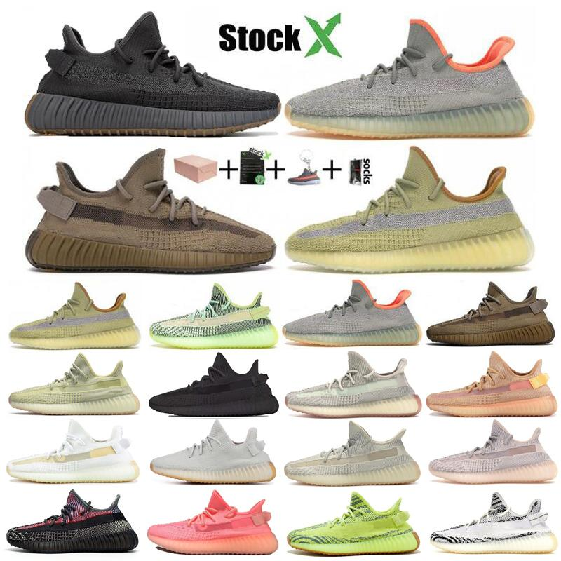 2020 Kanye West 3M Static Running Shoes New Israfil Cinder Desert Sage Earth Tail Light Zebra Women Men Trainers Sneakers