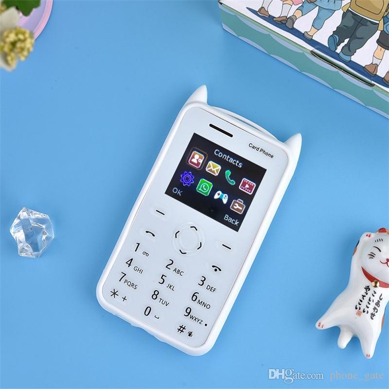 Mini telefono cellulare per bambini Bluetooth 2G GSM 30mp Supporto fotocamera TF card Singola SIM MP3 Musica Giocattoli per bambini Regali A5 di DHL