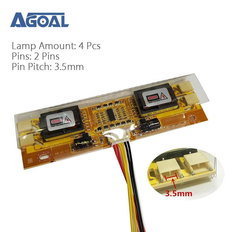 """ASHATA CCFL 4 Lampe Petit Port Carte Onduleur Haute Pression pour 10-26/""""LCD É..."""