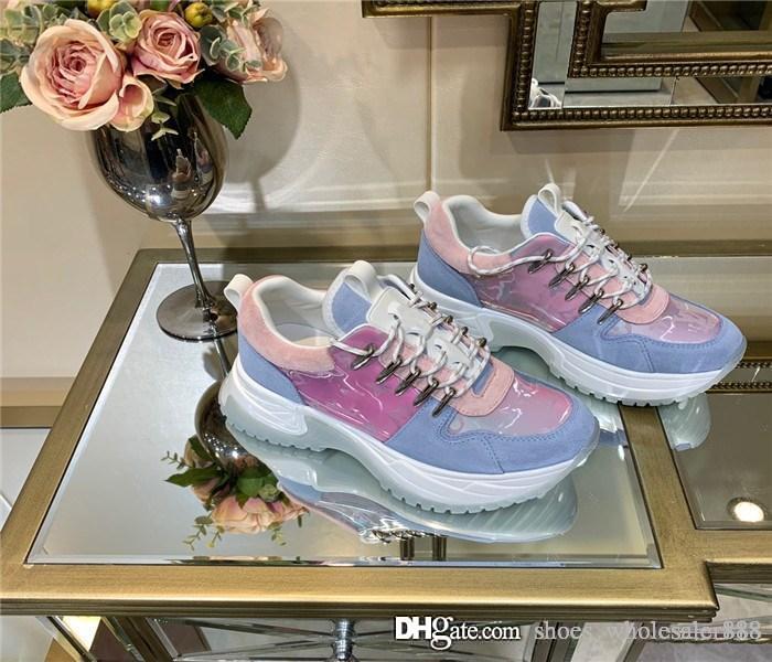 Run Away Plus Damen Herren Sneakers, Regenbogen Multicolor Oversized Sneaker Trainer Kausale Schuhe Rote Unterteile mit Box Größe 35-45