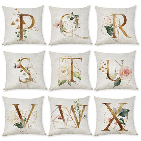 26 lettres sauvages et libres coton lin doux housse de coussin maison de taie jeter taie maison sofa décoration taie DHL gratuit