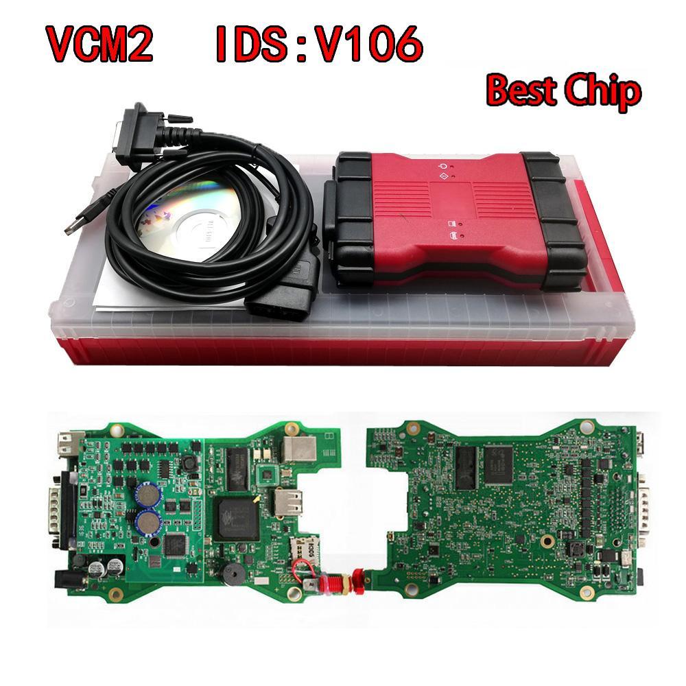 واجهة بالكامل رقاقة VCM II 2IN1 لفورد، مازدا VCM2 التشخيص البرمجة أداة VCMII OBDII الماسح VCM IDS 2 V106